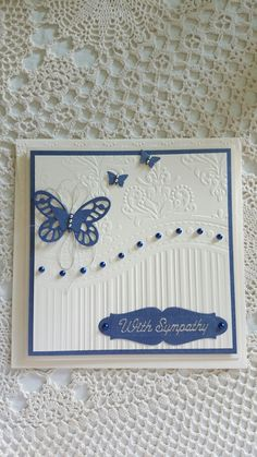 Designed by Dorothy... 'THAT' Folder usin Butterfly dies (Stampin' Up) and Grommet Tag (Spellbinders).