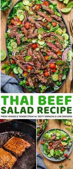 Asian Recipes, Beef Recipes, Ethnic Recipes, Thai Beef Salad, Tender Steak, Easy Family Dinners, Allergy Free Recipes, Easy Dinner Recipes, Delicious Recipes