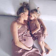 Deeply in love with this image, showing THAT magic inner connection...stunning! Numero74 featured products: matching Mia Dress Dusty Pink, for moms and kids.