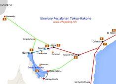 itinerary perjalanan tokyo-hakone