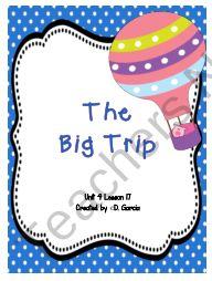 Journeys First Grade The BIg Trip product from TwirlyBirdTeaching on TeachersNotebook.com Journeys First Grade, Teacher Notebook, Reading Resources, Classroom Ideas, Literacy, Trips, Core, Teaching, Education