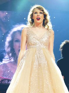"Taylor Swift singing ""Love Story"" at the Speak Now Tour"
