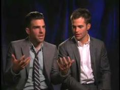 Zachary Quinto & Chris Pine (Uncut) -- Part 2. ------- completely hilarious and I don't even watch Star Trek