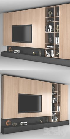 3d models: Wardrobe & Display cabinets - TV Wall 6