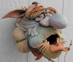 Douglas Fey Pottery--Gargler Bird Houses