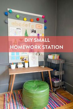 Organize a small homework station for your kiddo this year.