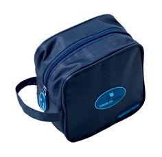 Travel Makeup Bag & Toiletry Nylon Organizer for Men On the Go, Navy Blue