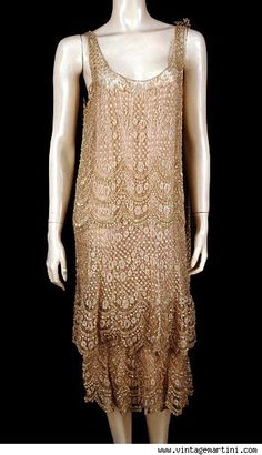 couture celadon-green georgette cocktail dress, circa 1926-27,   I ...