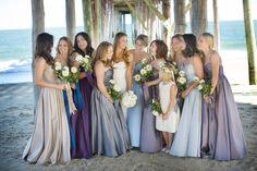 Bridesmaids dresses in autumn shades