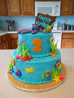 ocean cake By melissa0902 on CakeCentral.com