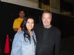 "Me and Tim Curry! :D I met him tonight after ""What About Dick?"""