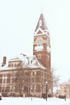 First snowfall of 2012, Clarion County Courthouse. Thursday, January 5, 2012.