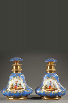 Jean Francois & Louis Joseph Darte (Paris Porcelain)  —  Pair of Charles X porcelain bottles,1830  (1100x1655)