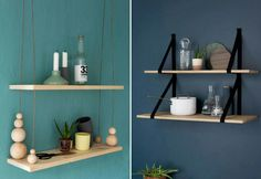Bilderesultat for trekuler med hull klesheng Diy Interior, Diy Home Decor, Home, Interior, Home Diy, Shelves, Floating Shelves, Diy Furniture, Home Decor