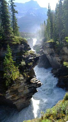Athabasca Falls Alberta Kanada [OC] x . - Athabasca Falls Alberta Kanada [OK] x - Beautiful Nature Pictures, Nature Photos, Amazing Nature, Beautiful Landscapes, Beautiful Scenery, Beautiful Places, Nature Images, Life Is Beautiful, Nature Landscape
