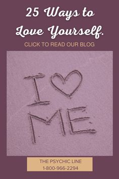 25 ways to love yourself more. Loving yourself can make a difference in how you feel every day. It can help you be more successful. Loving yourself also attracts more love in your life. We don't want anyone to feel pressured by such a long list…. Read more by clicking on the picture and going to our Blog. 1-800-966-2294 The Psychic Line Tarot Meanings, Psychics, Twin Flames, Love Yourself First, Psychic Readings, Spread Love, Love You More, Love And Light, Namaste