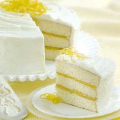 Triple layer lemon cake Recipe  (w/ lemon cream cheese frosting)