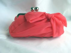 Hey, I found this really awesome Etsy listing at https://www.etsy.com/listing/103191507/coral-chiffon-clutch