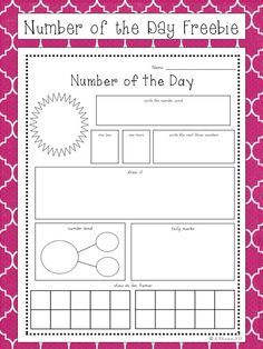 FREEBIE: Number of the Day (early in the year version) schoolisahappyplace.blogspot.com