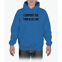 Thin Blue Line Hoodie Hoodie