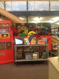 Our gorgeous Rainbow Serpent and Dreamtime display by our wonderful Library Technician Alana!