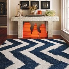 Bold chevron and Hermes. Again, mesmerized by the bold pattern and bright color combo.