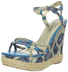 Be the Goddess Of The Island This Spring & Summer!!! - Fergie Women's IQ Ankle-Strap Blue Sandal