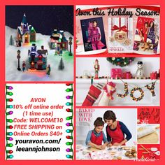 Avon has BEAUTIFUL items for your home  that will make your Christmas sparkle.  https://leeannjohnson.avonrepresentative.com/