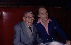 L for legends: George Burns & Sid Cesar Sid Caesar, George Burns, Legends, Suit Jacket, Breast, Suits, Jackets, Fashion, Down Jackets