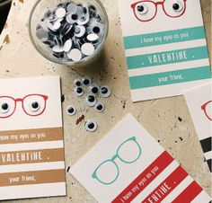 Googly Eye Valentines [Printable Valentines for Kids] ~ Be Different...Act Normal