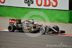 Lotus F1 Team E23 Driven By Romain Grosjean At Monza - Download From Over 35 Million High Quality Stock Photos, Images, Vectors. Sign up for FREE today. Image: 58938904