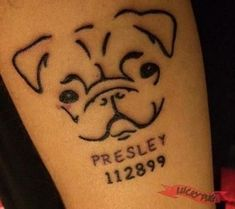 Pug Tattoos On Legs Tattoo Picture