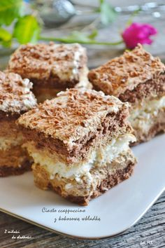 Cappuccino z kokosową wkładką Polish Desserts, Polish Recipes, Baking Recipes, Cookie Recipes, Dessert Recipes, Sweets Cake, Pumpkin Cheesecake, Food Cakes, How Sweet Eats