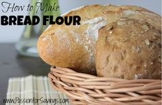 If you don't make bread often, or if you run short on your big baking day, learn how to make bread flour from all-purpose flour by adding just one ingredient.