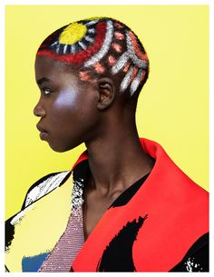 Fashion photographer Maria Karas captures the beauty with painted hair by Charlie Taylor for an out of the box approach to beauty.