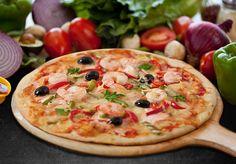 Diabetes & Salud: Pizza de Alcachofa, camarones y pimiento rojo