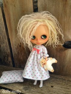 dolly molly ROSE BUDS nightgown and pillow for by dollymolly