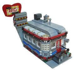 Big Apple Diner. I'm in love with this MOC, I want to walk in and order a burger and a shake. It's just beautiful.