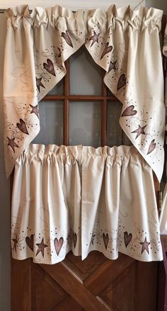Country Star Window Valance Kitchen Dining Burlap Berry Farmhouse Style  Decor | Berry Garland, Valance And Window
