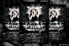 Check out Black Night Party Flyer Template by ThatsDesign on Creative Market