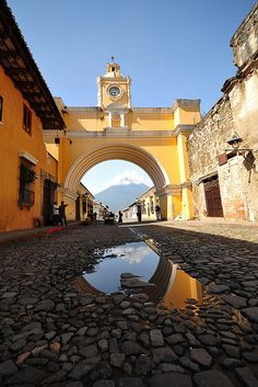 Antigua, Guatemala. Couldn't go last time I went to Guatemala but it's a must go to place.