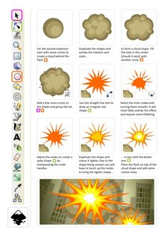 Kaboom! more great tutorials for inkscape game art and explosions http://2dgameartforprogrammers.blogspot.com/2011/12/back-with-bang.html