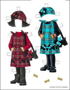 Little sisters: Keesha paper doll