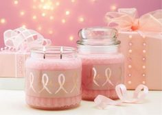 Breast Cancer candle  10% of the retail value is donated to BCRF. https://www.profiletree.com/sarahscandlz #candles, #handmade, #crafts, #decoration, #fragrance, #christmas, #body, #home, #products, #accessories, #canyoncandles,
