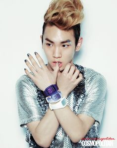 SHINee Key-Minho Models for Swatch Touch for Cosmopolitan [PHOTOS ...