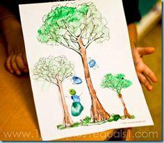 Something Special ~ Rainforest Thumbprint Art