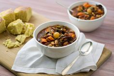 Southern Style Bean and Kale Soup, by Simply Gluten-Free.