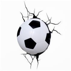3D Wandleuchte LED Modern Fußball Design