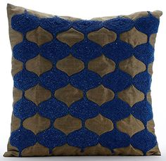 Designer Blue Pillow Covers, Beaded Lattice Trellis Pillo... https://www.amazon.com/dp/B016H8UK2Q/ref=cm_sw_r_pi_dp_x_TfmaybHE6PSWH