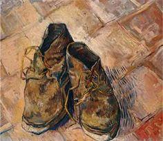 """Art Print of A Pair Of Shoes"" - Van Gogh posters and prints available at Barewalls.com"